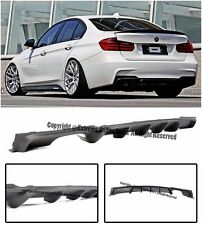M Performance Style Rear Lower Bumper Single Tip Diffuser For 12-Up F30 3-Series