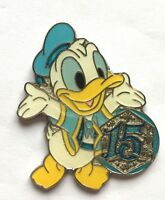 Disney Pin Badge 15th Anniversary Game Prize Pin - Spring 2016 - Donald Duck