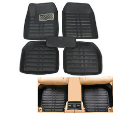 5Pcs Car Floor Mats PU Leather skidproof  Front&Rear Liner Waterproof Universal