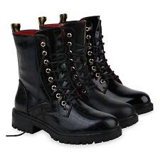 Damen Stiefeletten Leicht Gefütterte Schnürstiefeletten 835333 Schuhe