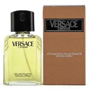 VERSACE L'HOME for Men 1.7oz-50ml Eau De Toilette Spray *VINTAGE FORMULA* (BM11