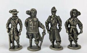 Vintage Kinder Surprise Spanish Conquesator Die Cast Iron Miniature Figurine Lot