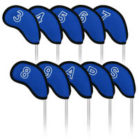 10Pcs Neoprene Golf Iron Head Covers Set Fits Callaway Ping Taylormade Titleist