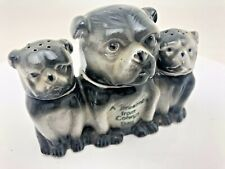 More details for vintage salt pepper mustard pots porcelain bulldogs colwyn bay rare collectable