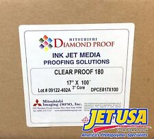 "Mitsubishi Diamond Proof Ink Jet Media - Clear Proof 180 - 17"" x 100' Roll Film"