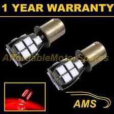 2X 382 1156 BA15s 207 P21W XENON RED 18 SMD LED REAR FOG LIGHT BULBS RF201202