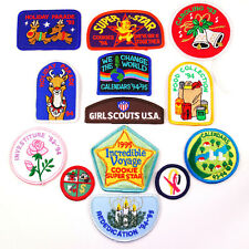 Mixed Lot of 13 Vintage 93-95 Girl Scouts USA Embroidered Uniform Sash Patches