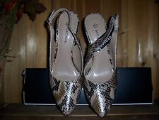 GEORGE WOMENS SNAKE PRINT DRESS SHOES HIGH HEEL SIZE 9 LADIES FOOTWEAR STYLISH
