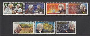 (50409) Nicaragua MNH Olympics OVERPRINT Albert Einstein 1980