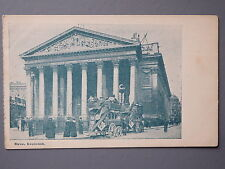 R&L Postcard: Royal Exchange London, Horse Bus Carriage Stagecoach