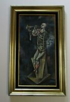 FINEST EUGENIO SERVIN PAINTING ABSTRACT EXPRESSIONISM SURREAL CUBISM MUSICIAN