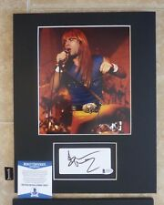 Bruce Dickinson Iron Maiden Signed 11x14 Matted Photo Display #1 BAS Certified