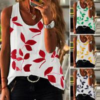 ZANZEA Womens Sleeveless O Neck Tank Shirt Summer Beach Casual Loose Tops Blouse
