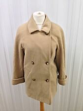 Womens Vintage Pea Coat - Uk12/14 - Beige - Good Condition