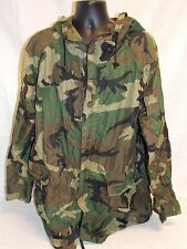 US ARMY WET WEATHER RAIN JACKET ORC RAINSUIT PARKA LARGE WOODLAND BDU A9