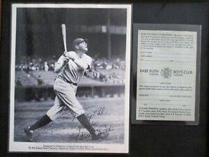 1934 Babe Ruth Quaker Oats Photo, ESSO Boys Club Coupon, Pins & Book LOT