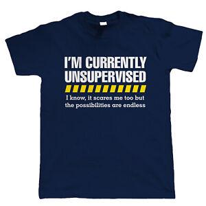 Unsupervised Funny Mens T-Shirt - Gift for Him Dad Grandad Joke Slogan