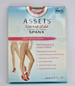 NEW Assets Red Hot Label by Spanx Super Control Sheers Barest Size 2/B Pantyhose