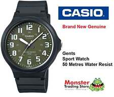 CASIO WATCH SPORTS WATER RESISTANT MW-240-3BV 12 MONTH WARRANTY