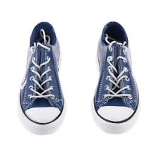 """1/6 Males Trendy Blue Canvas Shoes Flats Sneakers 12"""" Figure Accessories"""