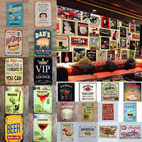 Tin Wall Metal Plaque BBQ Sign Retro Vintage Bar Pub Decor Poster Home Clubs Lot