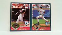 Uncirculated Topps 2003 Opening day Ken Griffey Jr and Chipper Jones