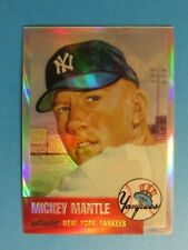 Mickey Mantle 1996 Topps Finest Refractor Card #3 1953 unpeeled NY Yankees