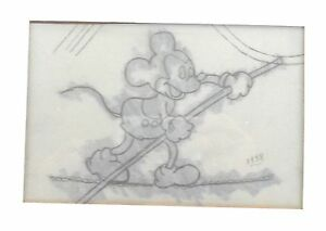 Rare Vintage Mickey Mouse Cel Dated 1938