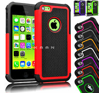 iPhone 5C New Hybrid Rugged Rubber Hard Defender Case Cover Dual Layer For Apple