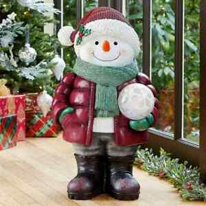 Festive24 Inch (63.5cm) Indoor Outdoor Christmas Snowman Greeter with LED Sno...