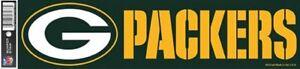 WinCraft NFL Green Bay Packers Bumper Strip Sticker 3 X 12
