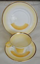 Art Deco Shelley Patches & Shades Trio Cup & Saucer Plate 1930's Dutch Auction