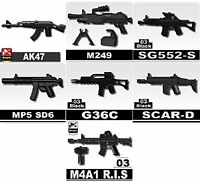 Black Federal Gas Riot Gun SWAT for LEGO army military brick minifigures