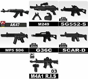 Custom Rifle Pack of Army weapons designed for LEGO® minifigures P1