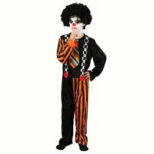 Boys Sinister Clown fancy dress costume Halloween outfit Jumpsuit Childs