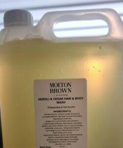 Molton Brown Neroli & Cedar Hair & Body Wash 5L Hotel Refill Factory Sealed