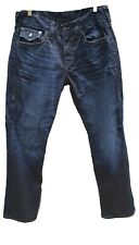 True Religion Mens Jeans Size 32 Ricky Relaxed Straight Droit Genuine Blue VGUC