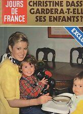 jours de france n°1363 christine dassin & ses enfants LIO michel poniatowski
