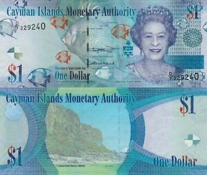 Cayman Islands 1 Dollar (2018) - QEII/Fish/Shells/p-38-New/Prefix D7 UNC