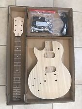 Left-Handed Paulownia LP Style Guitar Body And Neck- LOADED!