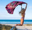 Indian Peacock Mandala Round Picnic Beach Rug Bohemian Tapestry Roundie Yoga Mat