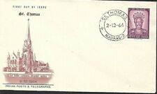 INDIA 1964 FIRST DAY COVER, ST THOMAS STATUE, ORTONA ITALY