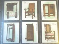 1923 Wills OLD FURNITURE chair desk 2nd series set 25 cards Tobacco Cigarette