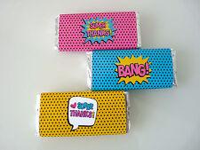 Superhero Super Girls Chocolate Wrappers - birthday party wonder woman