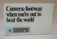 VINTAGE 1960s-70 CONVERSE PLASTIC COUNTER DISPLAY SIGN! 'OUT TO BEAT THE WORLD'!