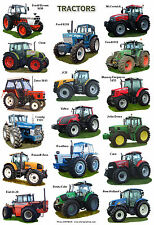 A4 POSTER LAMINATO... moderni trattori David Brown, John Deere, NEW HOLLAND ECC.