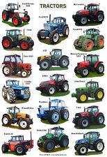 A4 LAMINATED POSTER.....Modern Tractors David Brown,John Deere, New Holland etc