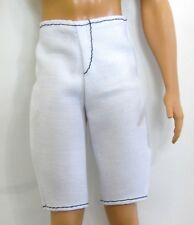 Barbie Doll Ken Doll Fashionista Clothes White Casual Shorts Bermuda