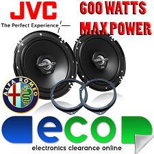 Alfa Romeo Mito 08-14 JVC 16cm 6.5 Inch 600 Watts 2 Way Front Door Car Speakers