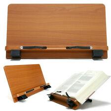 Book Stand Portable Wooden Reading Desk Cookbook Holder [P2]